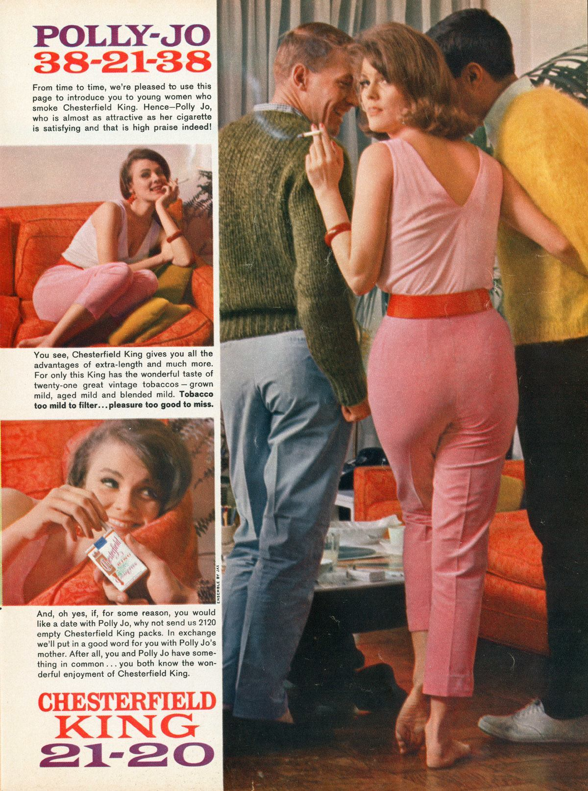 """Polly-Jo , who is almost as attractive as her cigarette is satisfying and that is high praise indeed!"""
