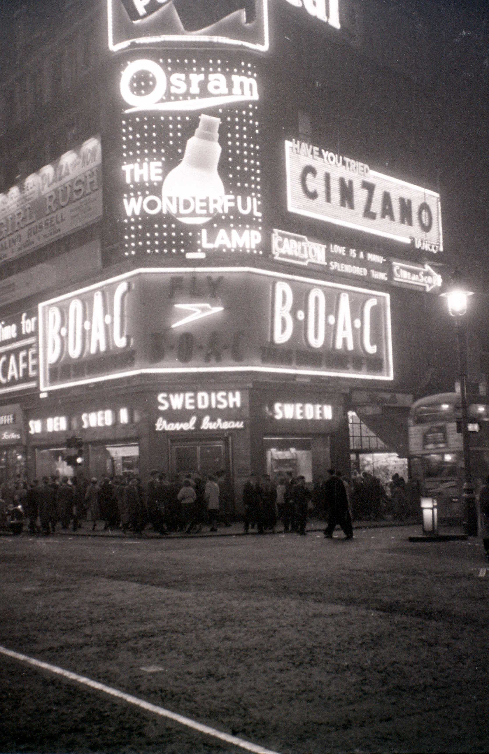 Coventry Street cnr. Haymarket, London, 5 November 1955