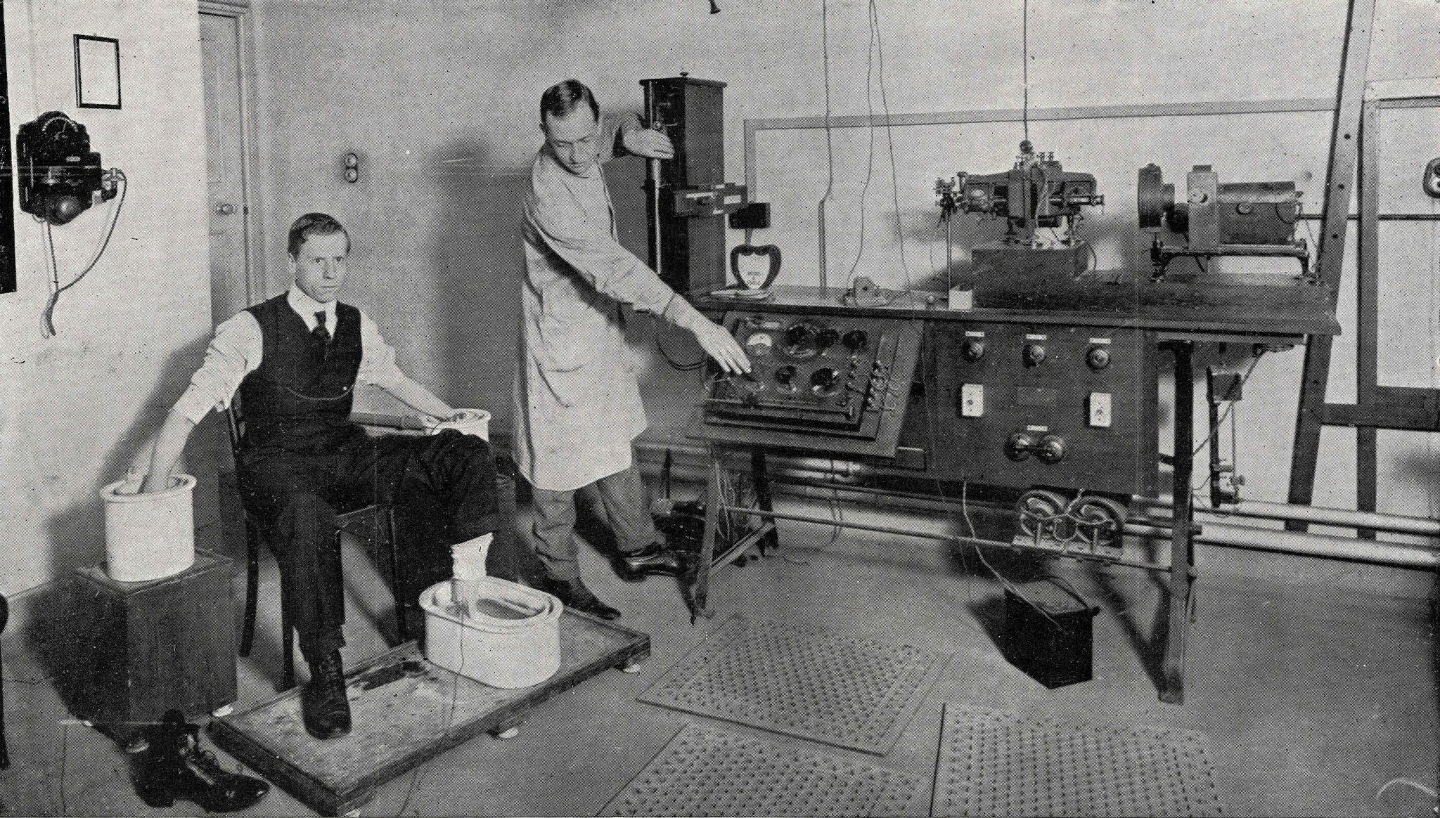 ECG performed at National Heart Hospital, London 1916.