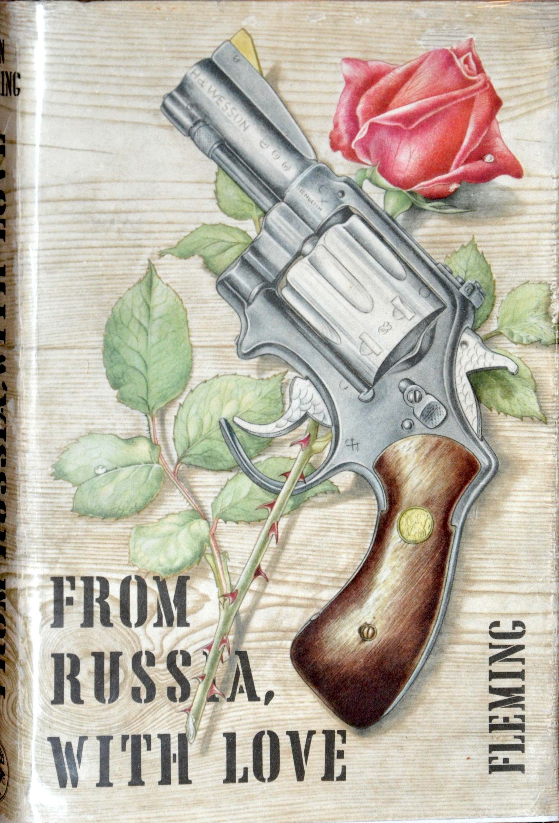 From Russia with Love published by Jonathan Cape in April 1957 for 13s 6d. Cover by Richard Chopping.