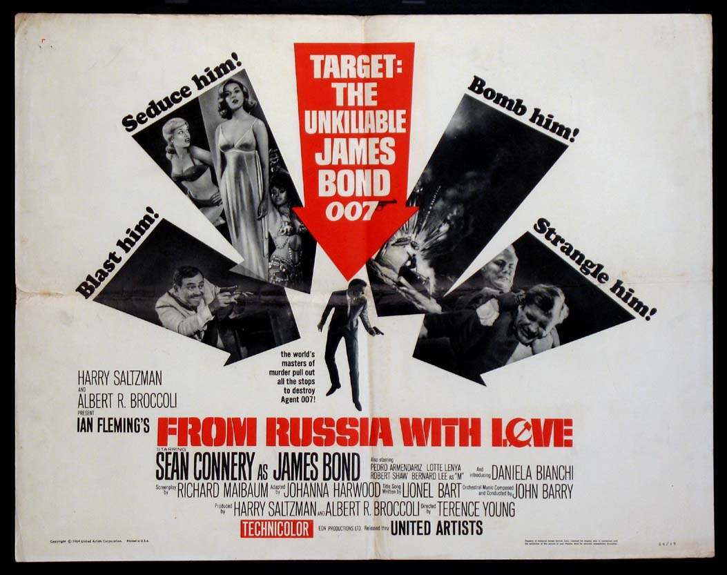 From Russia with Love poster with creases