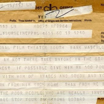 In 1968, The BFI Invited Jean-Luc Godard To The National Film Theatre: He Sent This Telegram