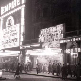 An Evening Stroll Around London's West-End in November 1955