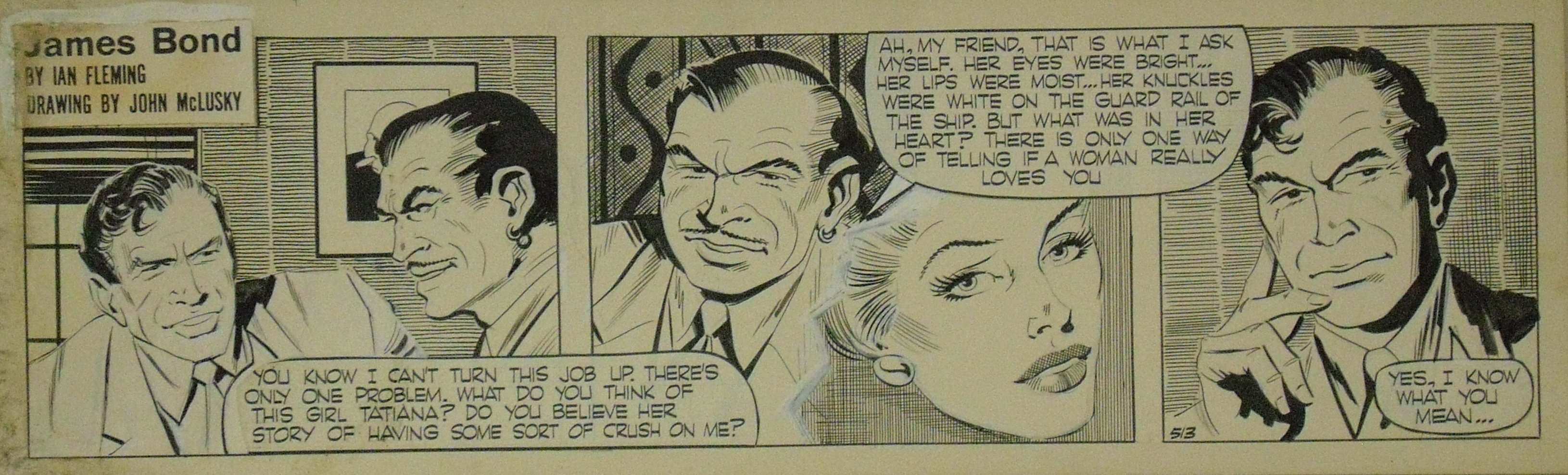 From Russia With Love comic strip from the Daily Express and drawn by John McLusky