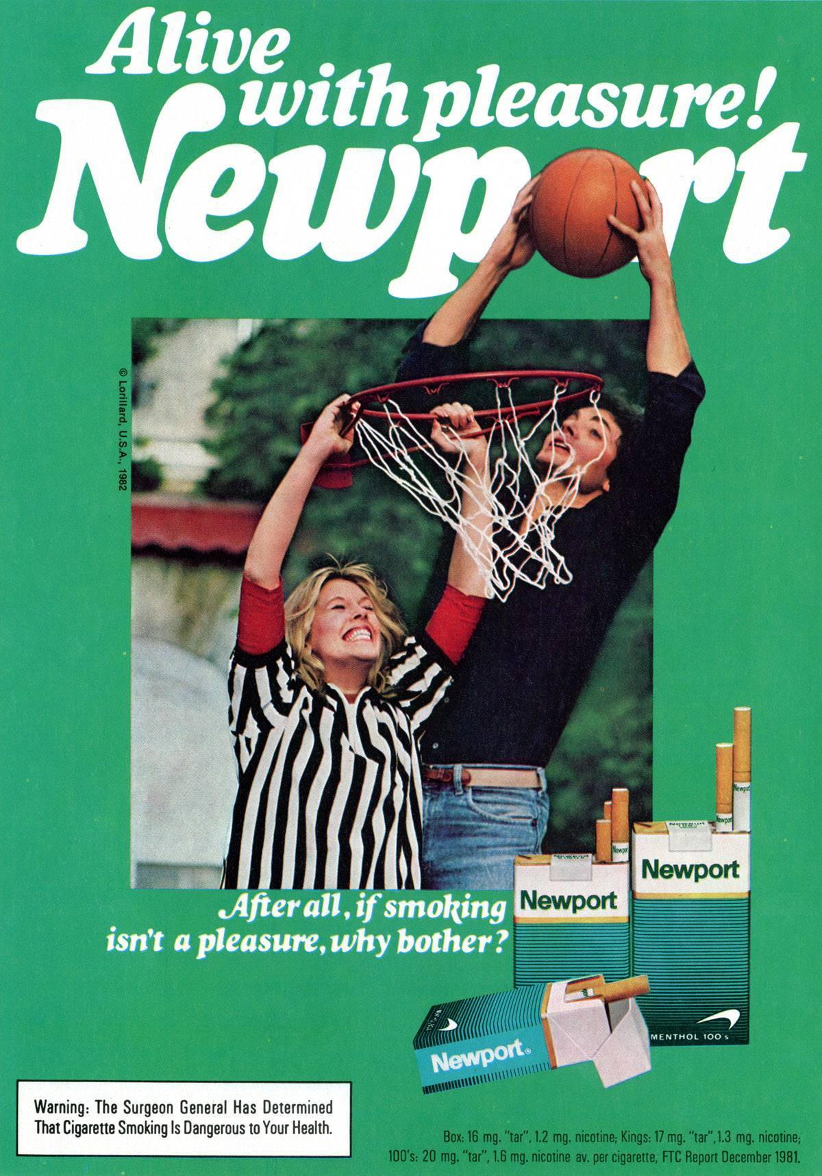Newport cigarettes basket ball