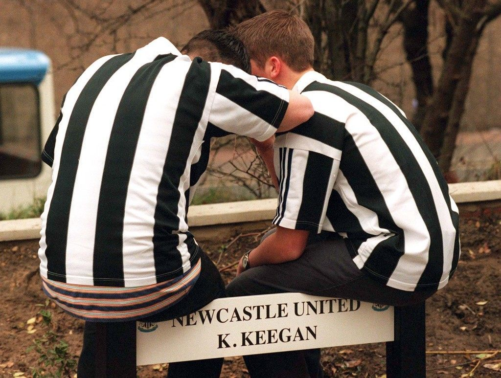 Vacant slot, the car park space for Kevin Keegan is mourned over by fans at St James Park today (Wednesday) after the shock resignation by Keegan as manager of Newcsatle United.  Ref #: PA.1034824  Date: 08/01/1997