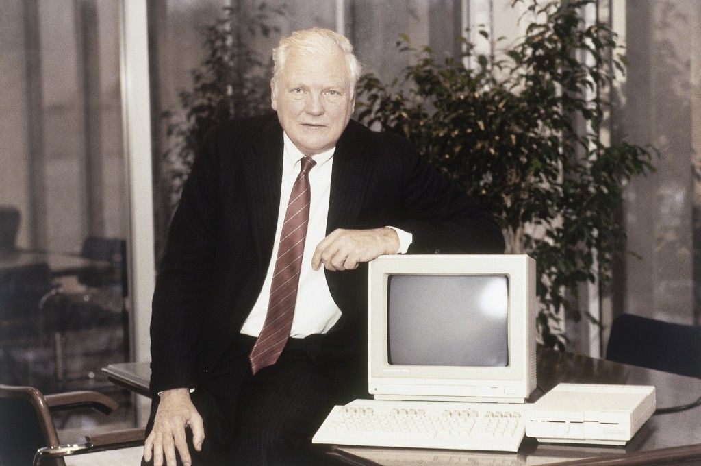Marshall Smith, head of Commodore Computers in Philadelphia, Pennsylvania in 1985. (AP Photo)