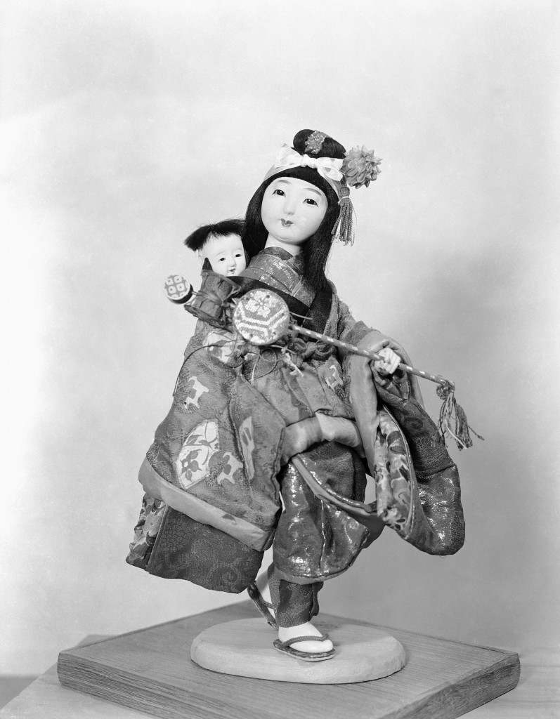 One of 20 dolls donated by Japanese manufactures for the United Nations International Children's Emergency Fund in Japan on Oct. 27, 1949. This doll is quite expensive, and is made for display not play. The dolls were turned over to an UNICEF representative in Tokyo, for shipment to New York City. (AP Photo/Charles Gorry) Ref #: PA.11499384
