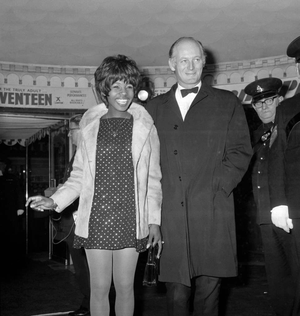 "Lord Montagu of Beaulieu arriving with pop singer Millie at the Casino Cinerama Theatre, Old Compton Street, London, for the world premiere of ""Custer of the West"" Ref #: PA.12520179  Date: 09/11/1967"