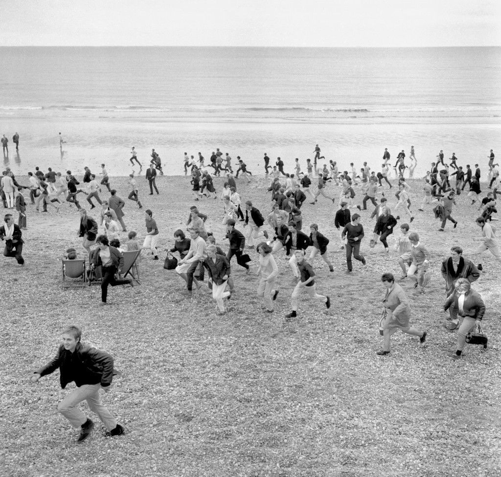 Extra police were required at Hastings, after outbreaks of trouble between Mods and Rockers, who descended on the Sussex resort. Ref #: PA.1929907  Date: 02/08/1964