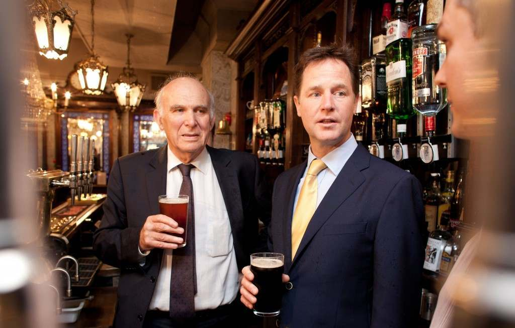 Clegg and Cable in the pub
