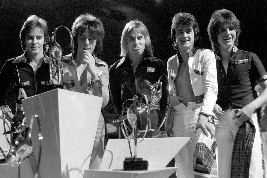 The Bay City Rollers at London Weekend Television's 'Saturday Scene' British Pop Awards at the Empire Pool in Wembley. Ref #: PA.21276946  Date: 16/11/1975