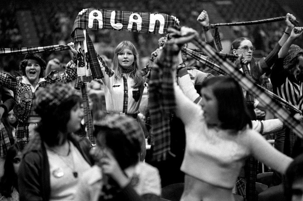 Fans of the Bay City Rollers watch their performance at London Weekend Television's British Music Awards. Ref #: PA.21298723  Date: 16/11/1975