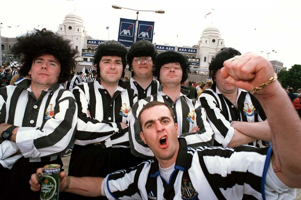 Soccer - AXA FA Cup - Final - Manchester United v Newcastle United Newcastle United Fans outside Wembley International Soccer ... Le Tournoi de France ... France v Italy Ref #: PA.314552  Date: 22/05/1999