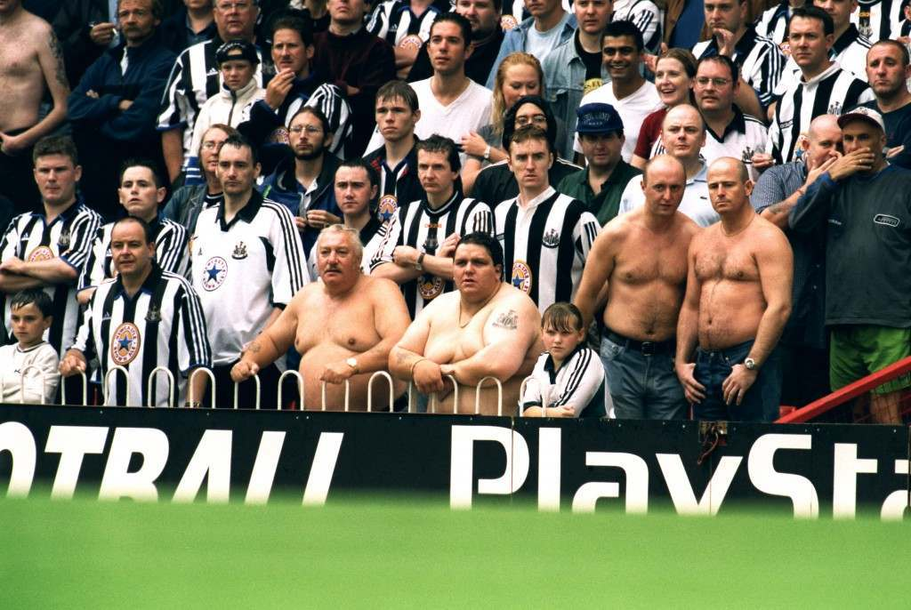 Soccer - FA Carling Premiership - Southampton v Newcastle United Newcastle United fans brave the weather but see their side slump to another defeat NULL Ref #: PA.323824  Date: 15/08/1999