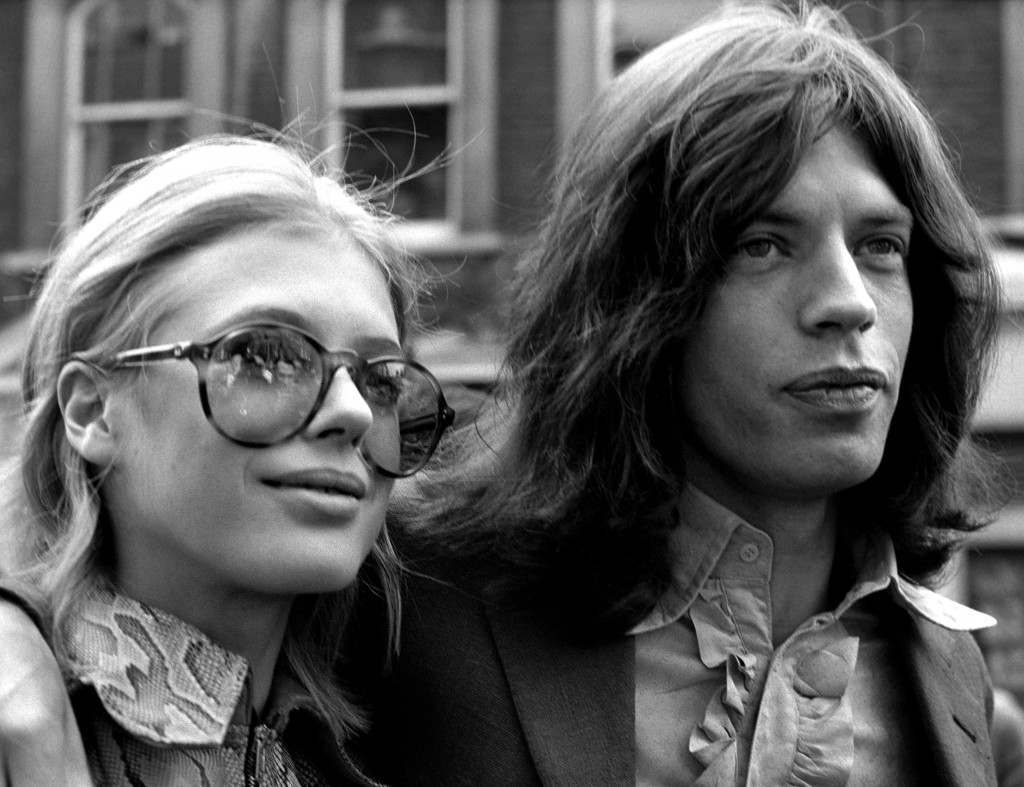 Mick Jagger, lead singer of the Rolling Stones, and actress Marianne Faithfull, on their way to Marlborough Street Court on a charge of possessing cannabis. Ref #: PA.3506069  Date: 29/05/1969