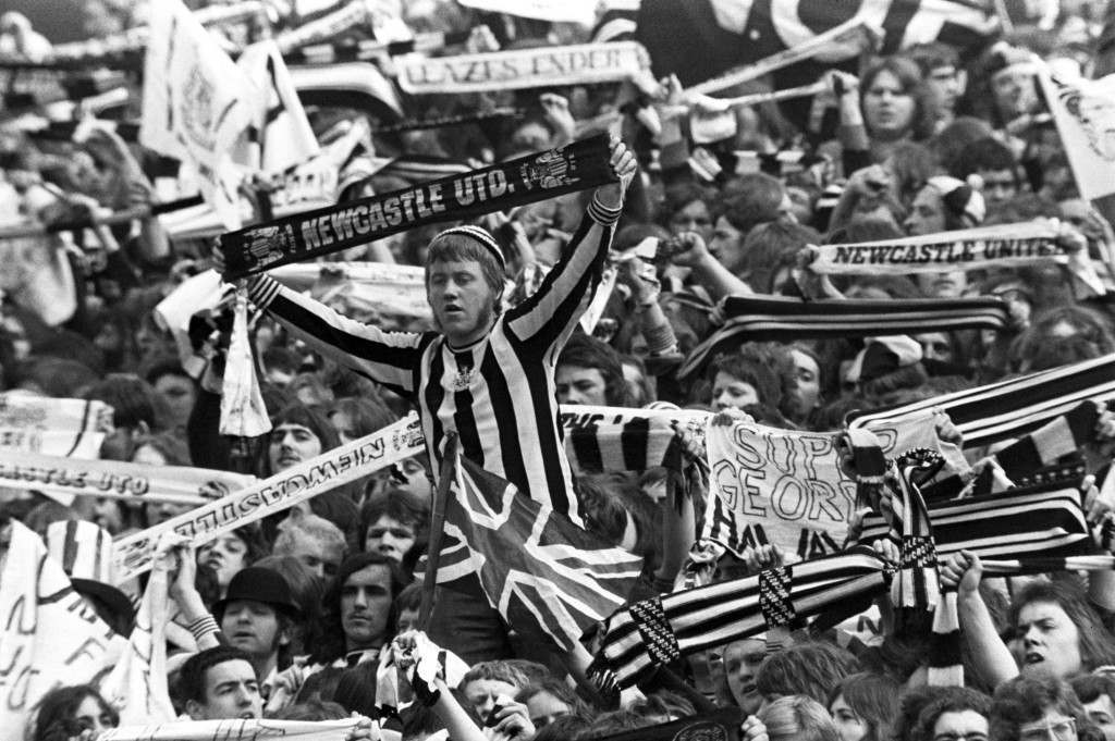 Soccer - FA Cup Final - Liverpool v Newcastle United Newcastle United fans NULL Ref #: PA.389808  Date: 04/05/1974