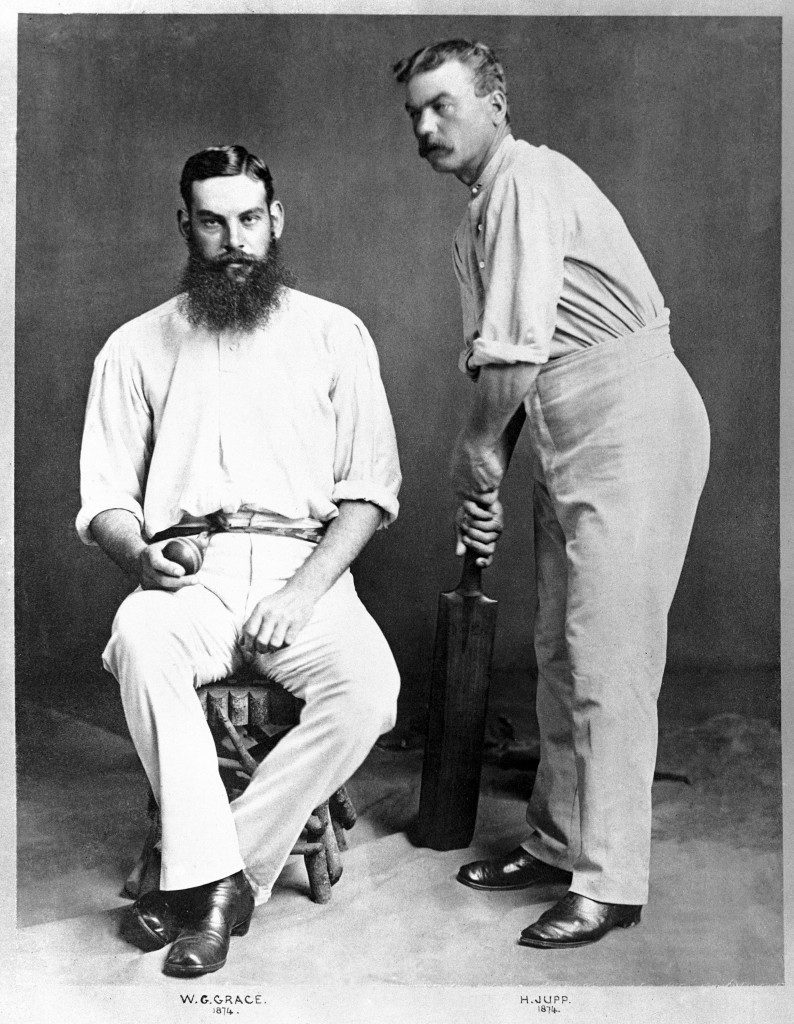 (L-R) WG Grace, Gloucestershire and England, and Henry Jupp, Surrey and England NULL Ref #: PA.479205  Date: 01/04/1874