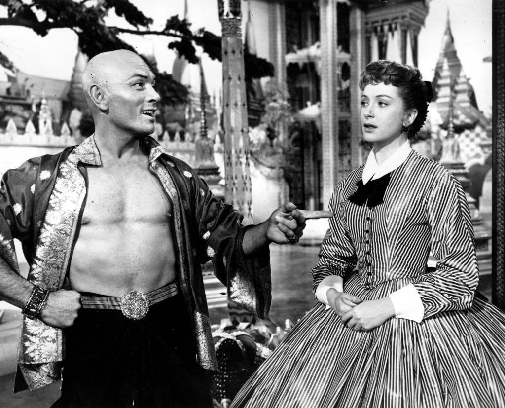 "Yul Brynner and Deborah Kerr share a scene in ""The King and I"" in March 1957"