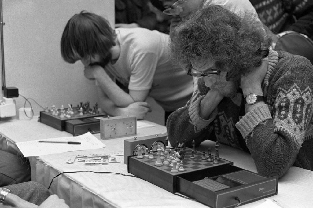 International chess master Jon Speelman, the 1978 British champion, did some hard thinking in a match with a new electronic opponent, the £279 Sargon 2.5 chess computer. Jon Speelman was one of only 2 players (the other was ex-Welsh national champion Manny Rayner) who beat the computer on the fifth of it's seven levels of difficulty. Jon persuaded it to resign after 40 moves.