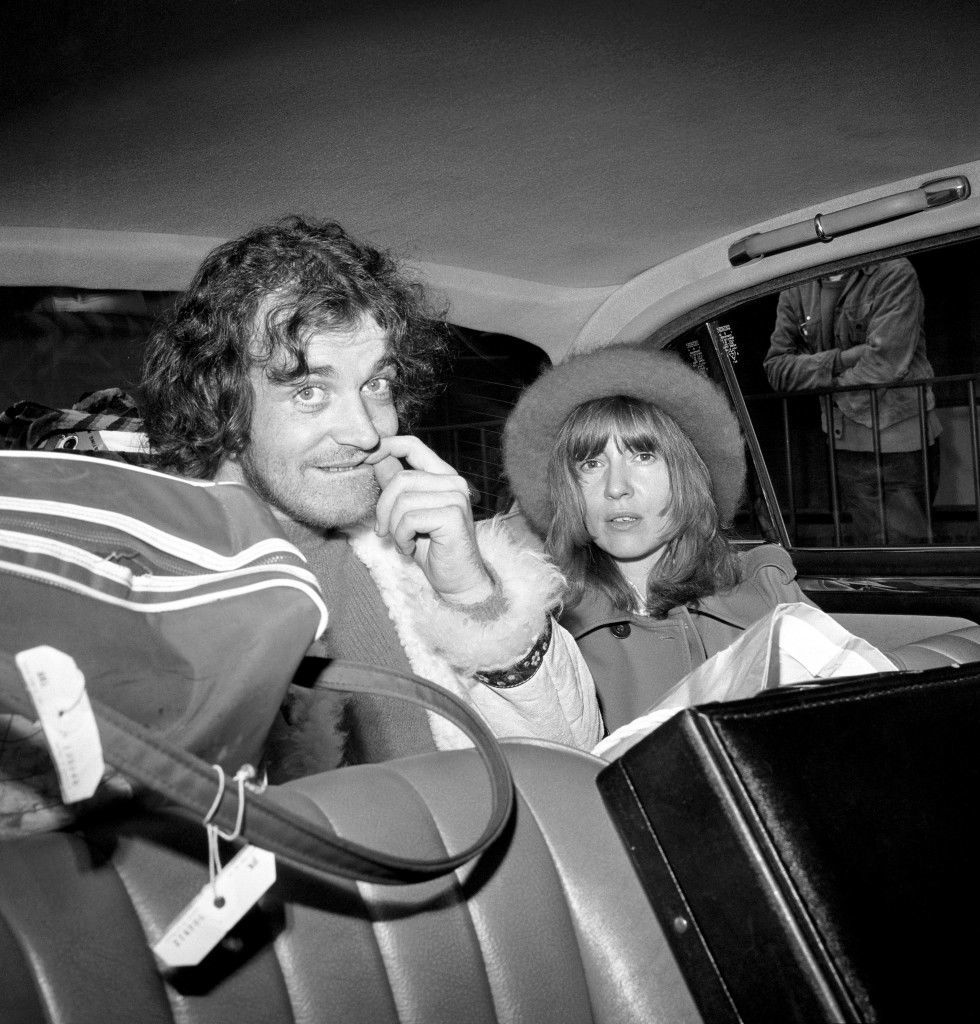 Joe Cocker, the British pop singer who was ordered out of Australia after being convicted of possessing drugs, drives away from Heathrow Airport with his girl friend Eileen Webster. Ref #: PA.6694159  Date: 30/10/1972