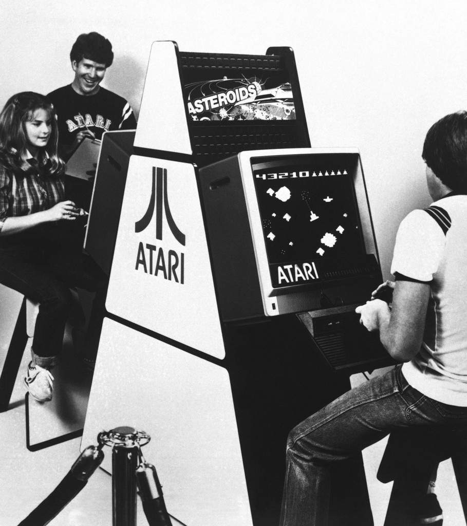 The countdown has started for the ATARI International Asteroids Tournament. Seated at the controls of the ATARI Video Computer System, built into Atari's modular game stations, contestants will vie for top scores on ATARI's latest home video game program, Asteroids. Ref #: PA.8038393  Date: 01/01/1981