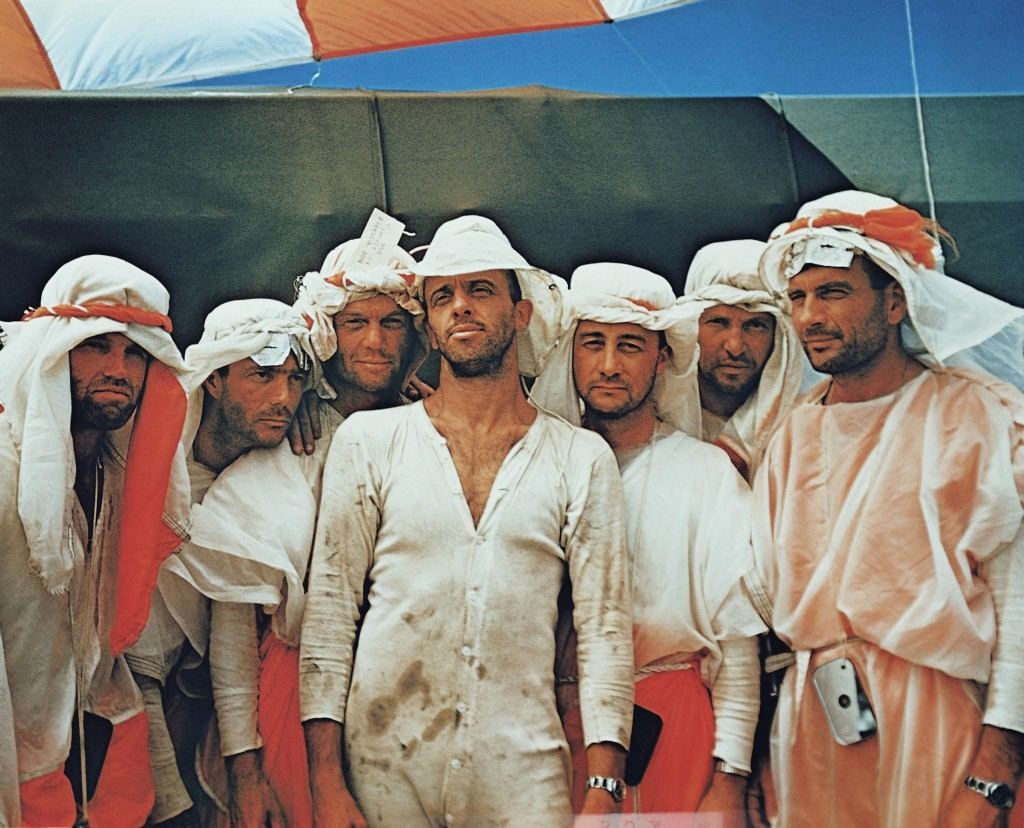 Astronauts during survival training in the Mohave desert in an undated photo. From Left to right are L. Gordon Cooper, M. Scott Carpenter, John H. Glenn, Jr., Alan B. Shepard, Jr., Virgil I Grissom, Walter M. Shirra and Donald K. Slayton. (AP Photo) Ref #: PA.8611688