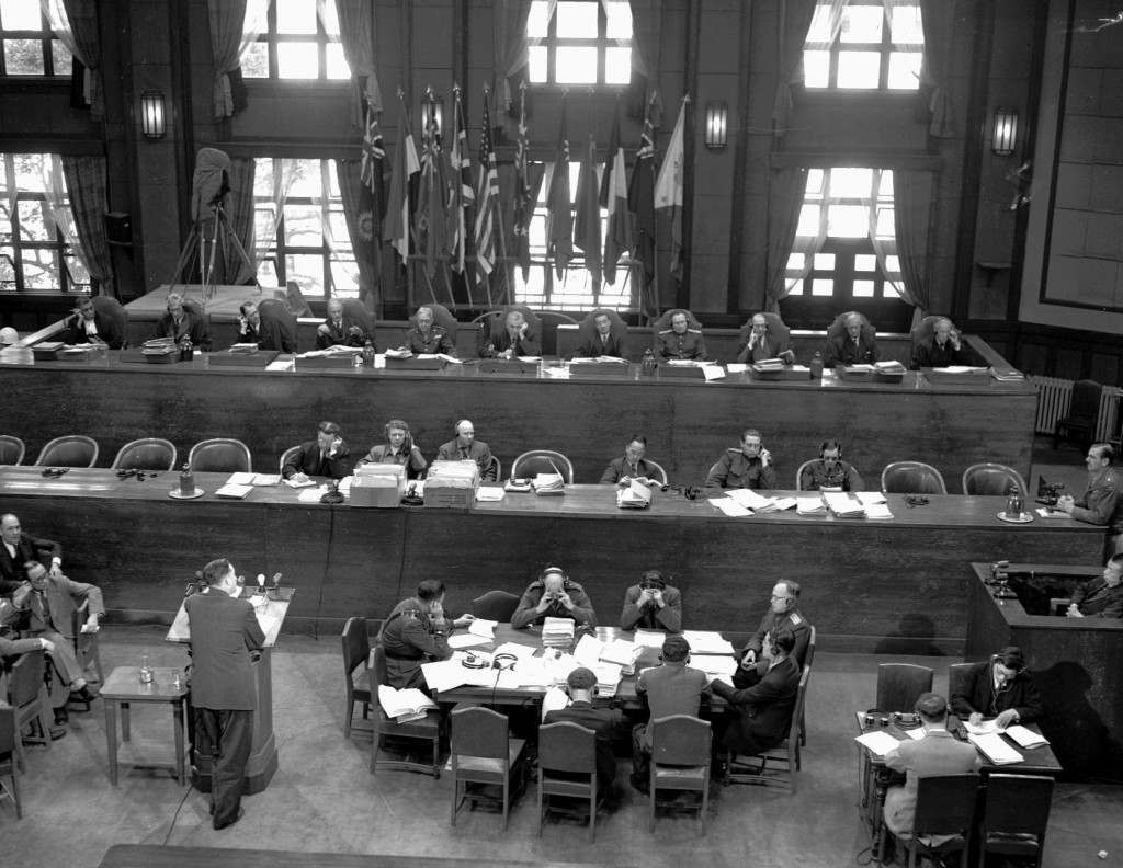 This is a general view of the International Military Tribunal for the Far East meeting in Tokyo in April, 1947. On May 3, 1946, the Allies began the trial of 28 Japanese civilian and military leaders for war crimes. Seven were hanged; others served prison terms. (AP Photo) Ref #: PA.8656802
