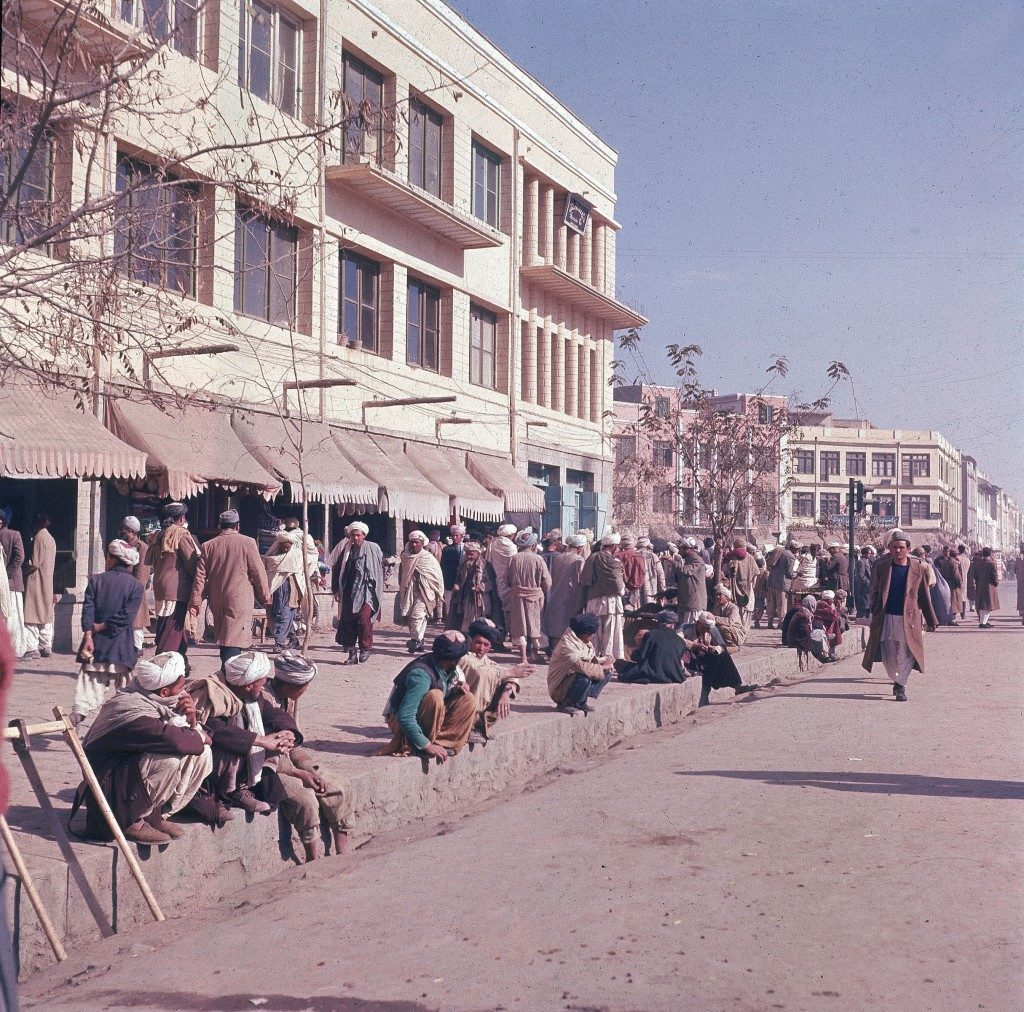 This is a general view of a busy sidewalk in Kabul, capital city of Afghanistan, in Nov. 1961. (AP Photo/Henry S. Bradsher)