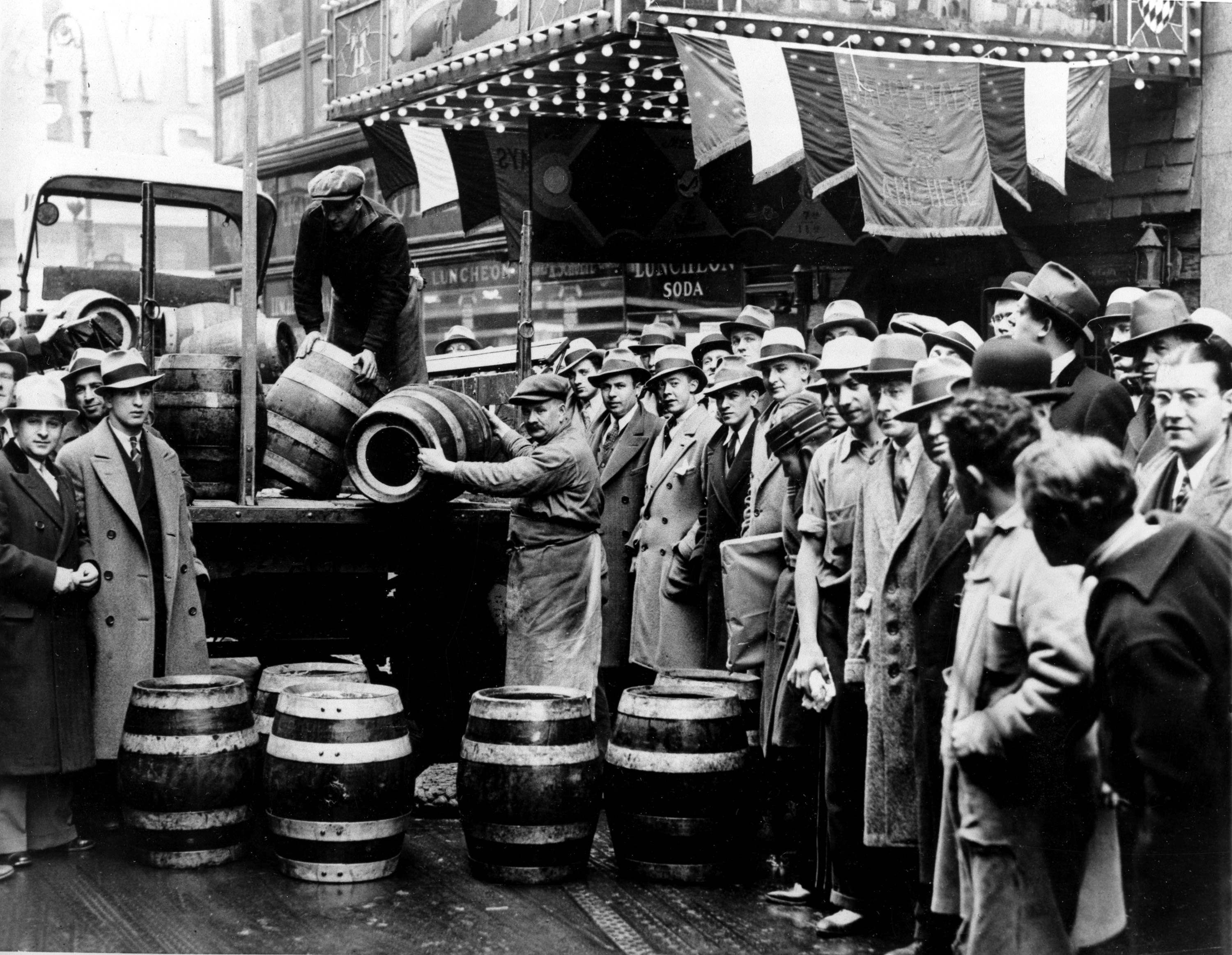Image result for prohibition ends in the u.s. in 1933