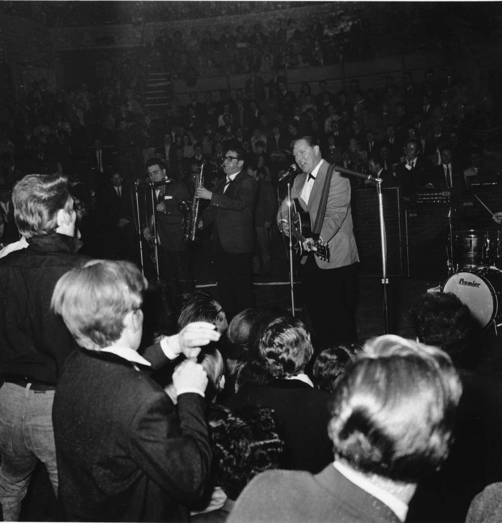 American rock-and-roll entertainer Bill Haley is seen performing with his group Ref #: PA.8695790  Date: 01/05/1968