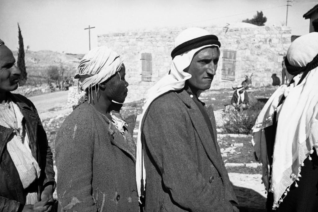 Suspected Arab rebels are rounded up by the British army near Jerusalem, Jan. 9, 1939. (AP Photo/James A. Mills) Ref #: PA.9033439 Date: 09/01/1939