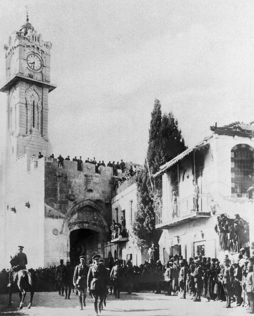 General Allenby (British) enters the captured City of Jerusalem, Palestine, Dec. 9, 1917. He entered on foot thru the Gate of David. (AP Photo) Ref #: PA.9750377 Date: 09/12/1917