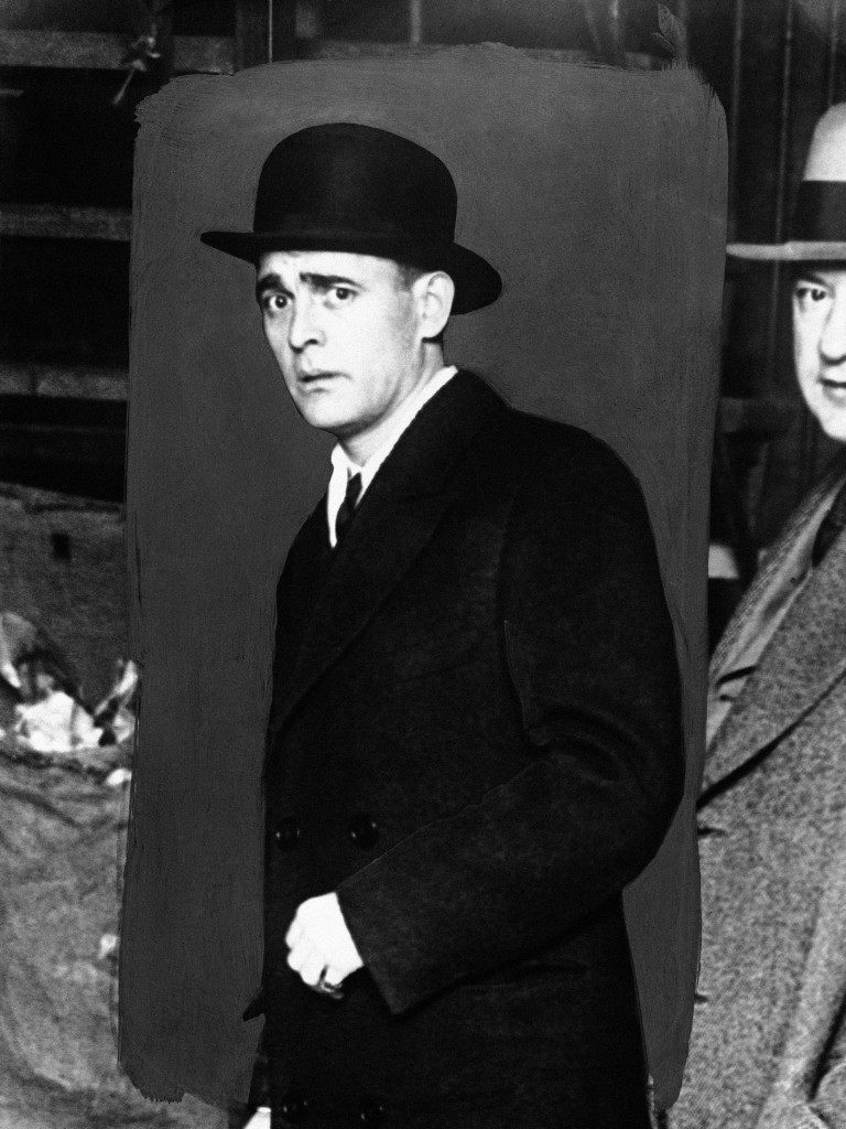 """Jack (""""Legs"""") Diamond on August 26, 1930, one of the biggest gang-leaders, racketeers, and bootleggers in America, who is reported to be en route for England in the liner """"Baltic"""". It is stated that the captain of the ship has been asked to put Diamond into irons and take him back to New York. Diamond is the bitterest enemy """"Scarface"""" Al Capone has in America. (AP Photo) Ref #: PA.9868985 Date: 26/08/1930"""