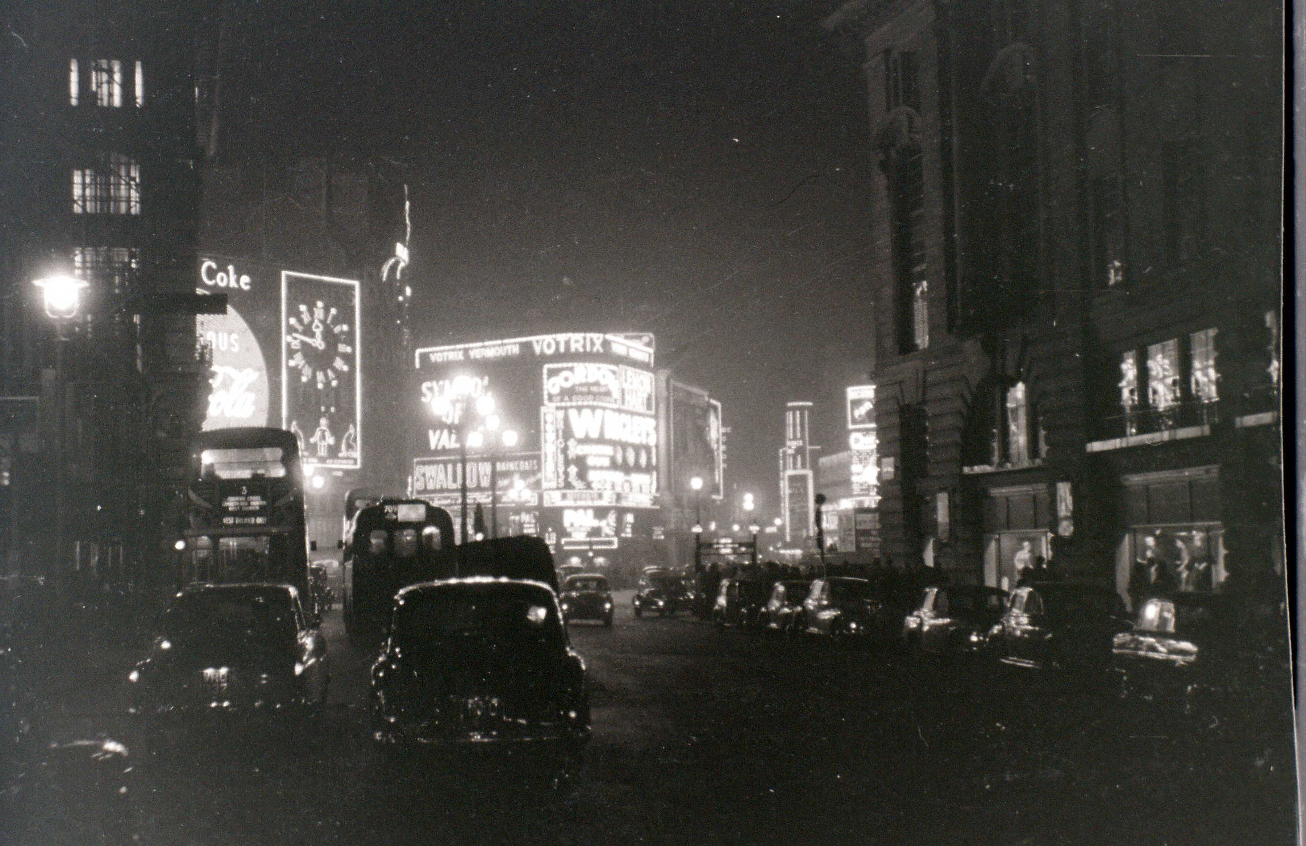 Piccadilly Circus, London, 5 November 1955