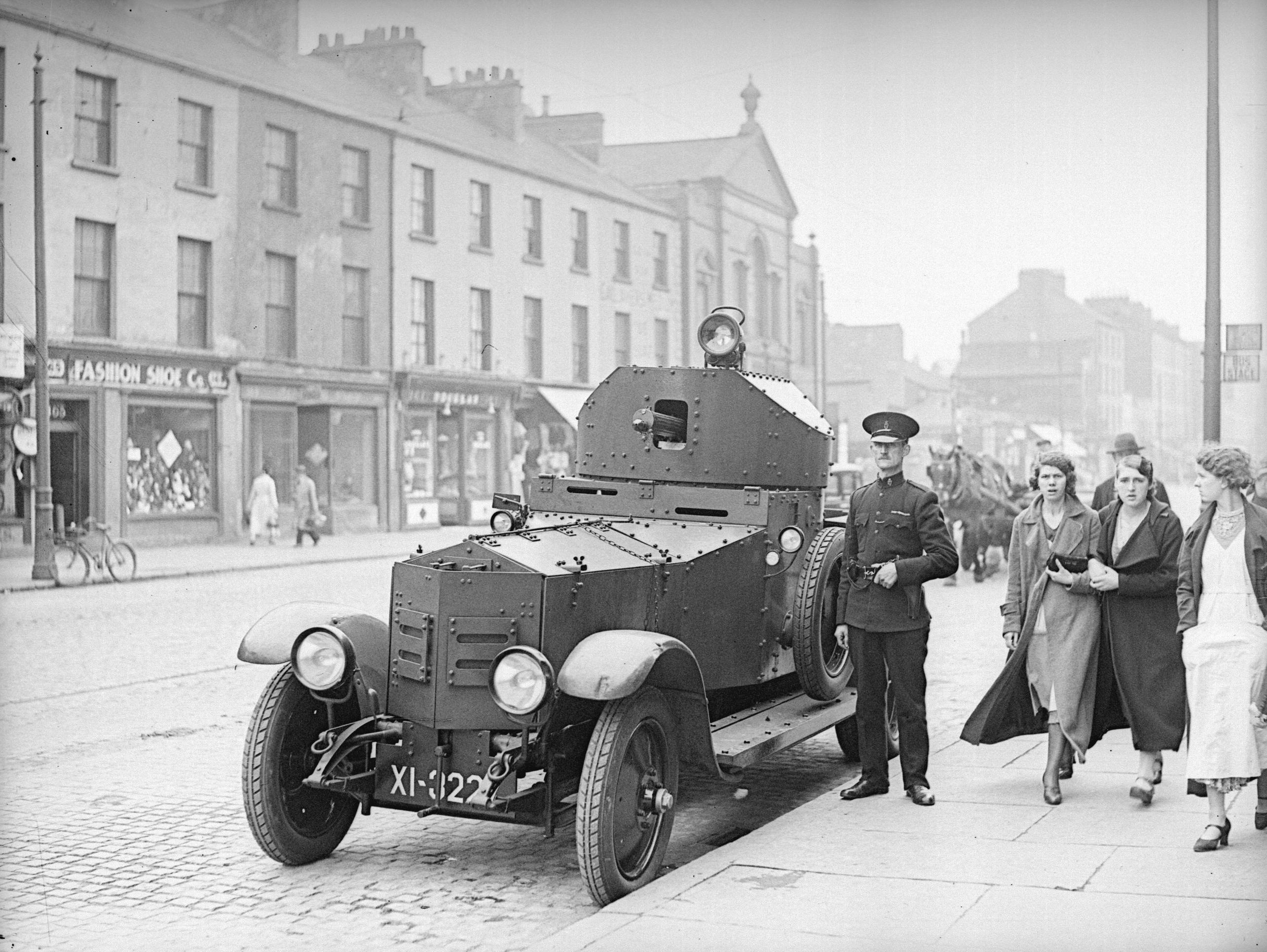 A Rolls-Royce Armoured car in York Street, June 1935.