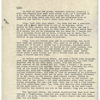 The FBI's 'Suicide Letter' To Dr. Martin Luther King, Jr., And the Dangers Of A Paranoid State