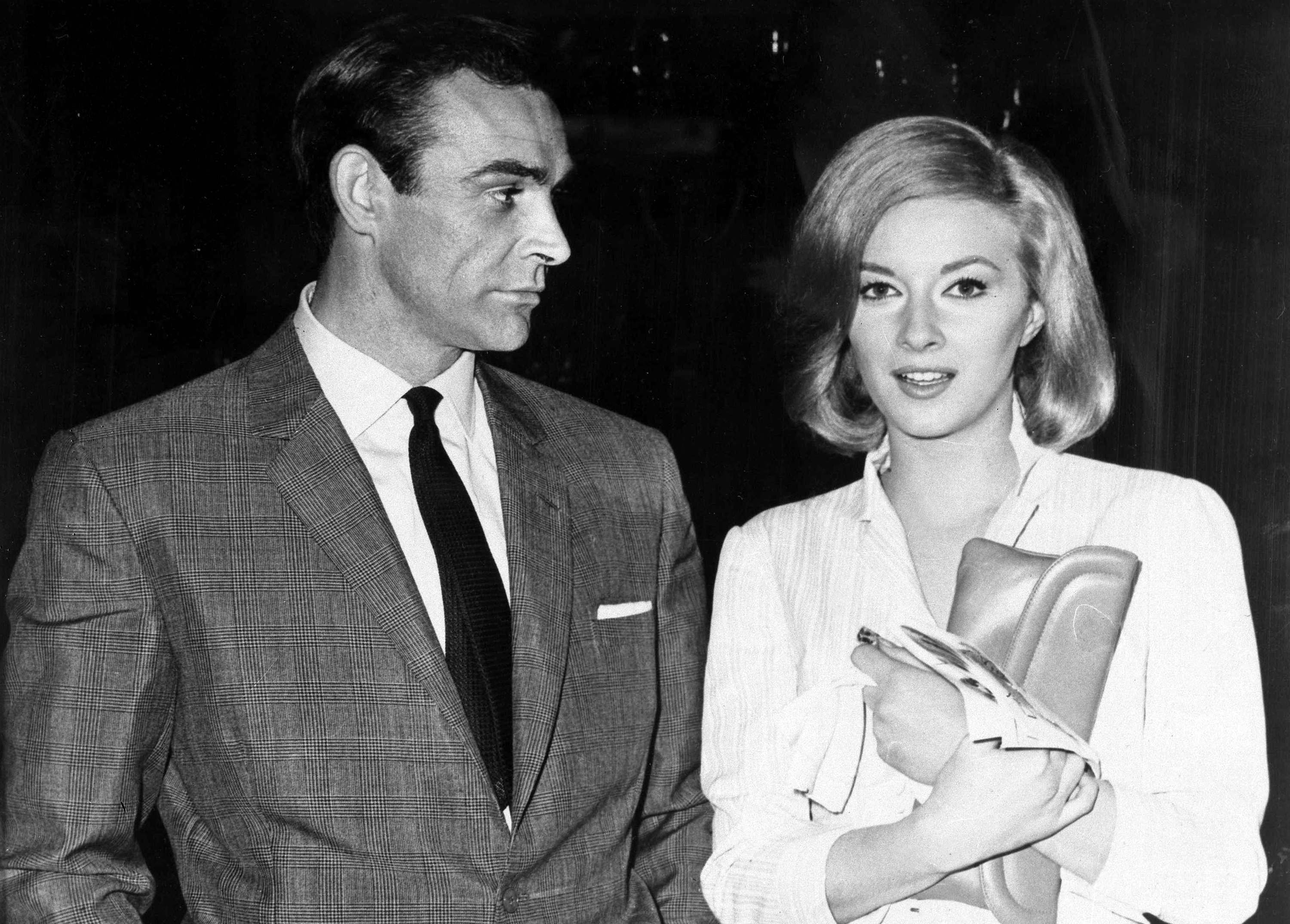 British actor Sean Connery, left, and Italian actress Daniela Bianchi are seen in Istanbul on Apr. 25, 1963. They are in Turkey filming 'From Russia with Love' in which Connery plays the part of MI6 agent James Bond and Bianchi plays the part of Tatiana Romanova. (AP Photo)