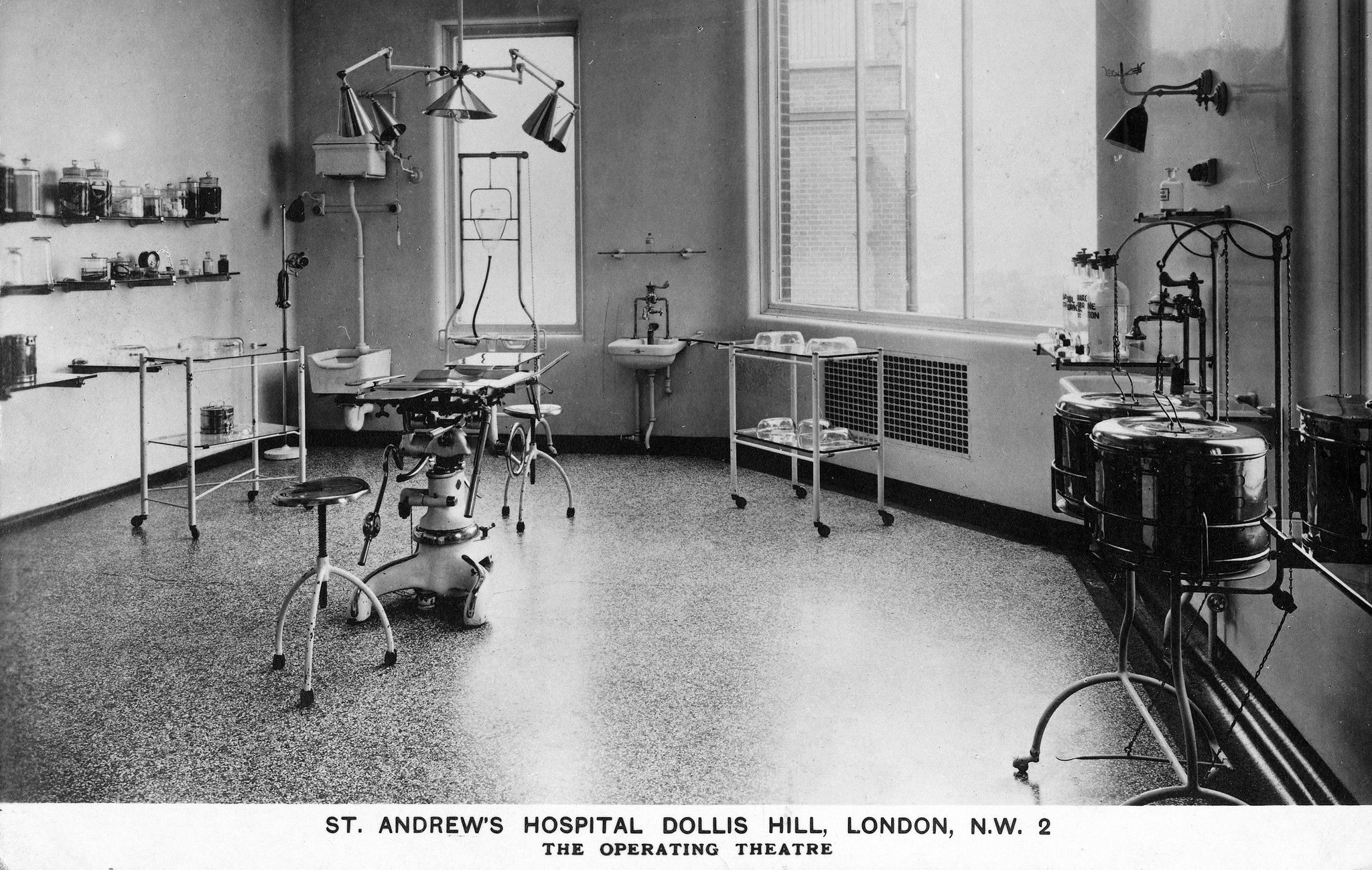 St Andrew's Hospital, Dollis Hill, Operating Theatre c.1925.