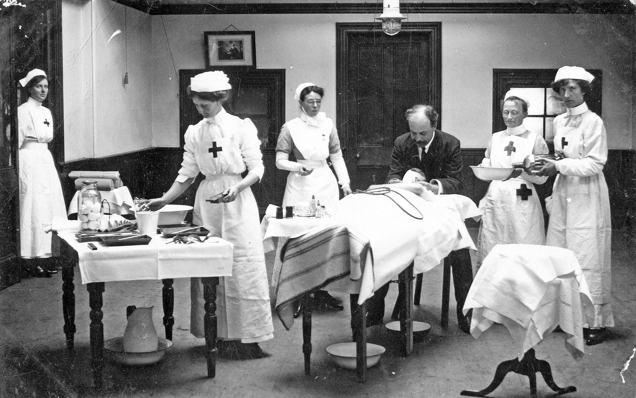 Sussex County Hospital, Red Cross Nurses during ww1.