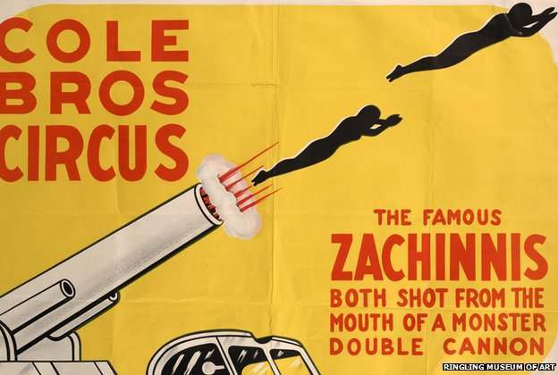 The Zacchini family were famed for the invention of a double cannon in the 1920s