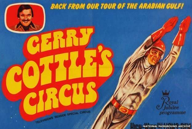 The human cannonball was a regular feature of British circuses until the 1990s