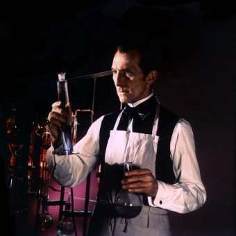 Peter Cushing as 'the screen's most fantastic fiend' in 'Frankenstein Must Be Destroyed'