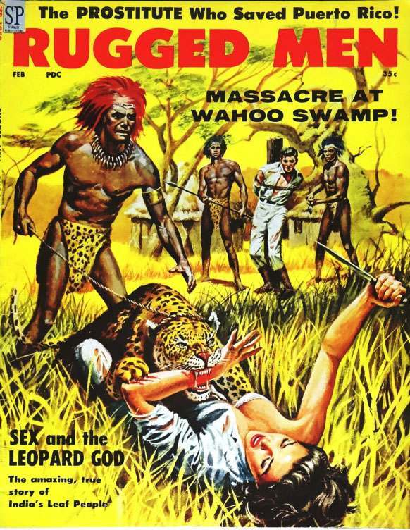 Rugged Men (Feb., 1959). Cover Art by Ray Sternbergh