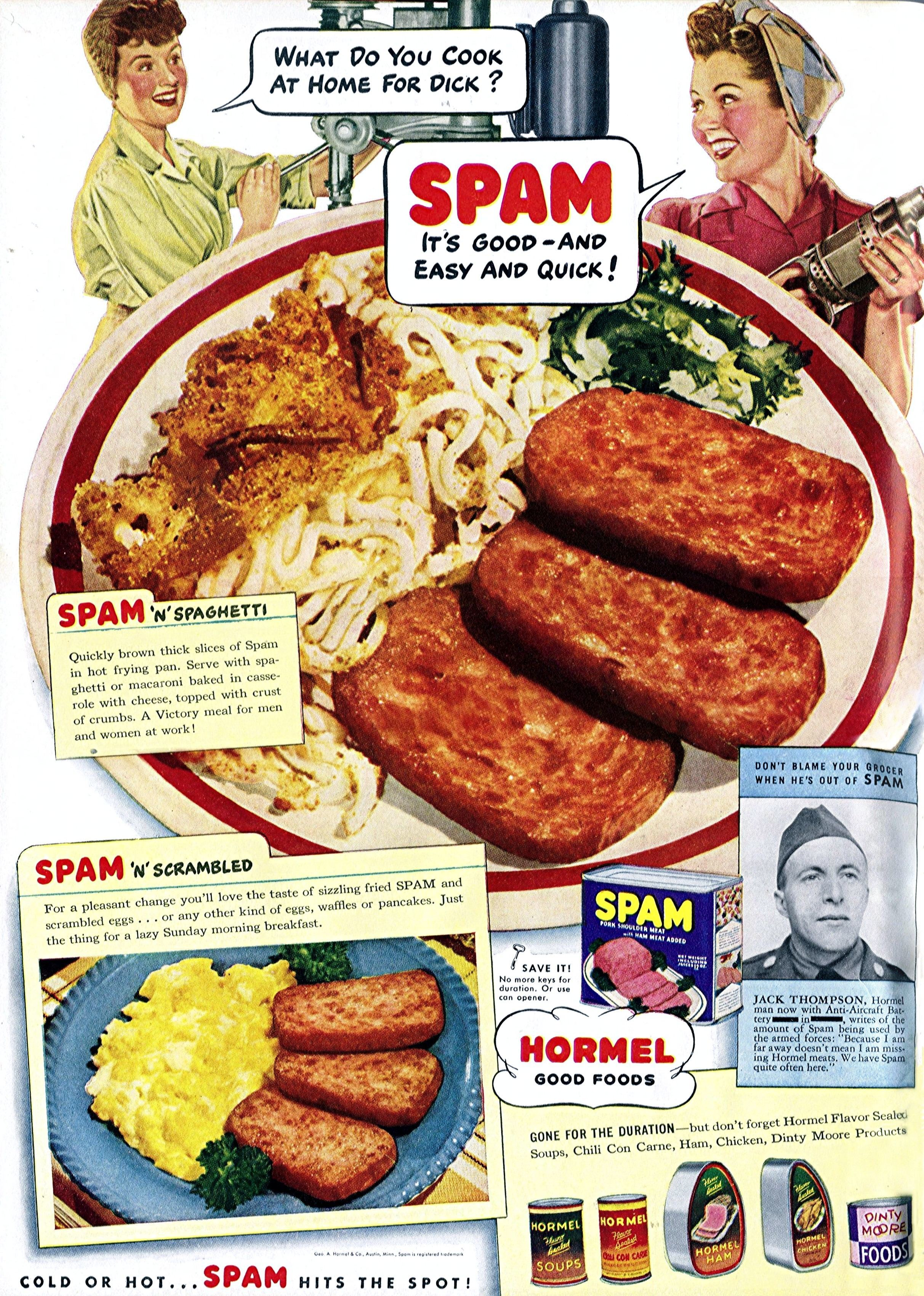 1943 - Spam for Victory! Published in the May 1943 issue of Woman's Day magazine