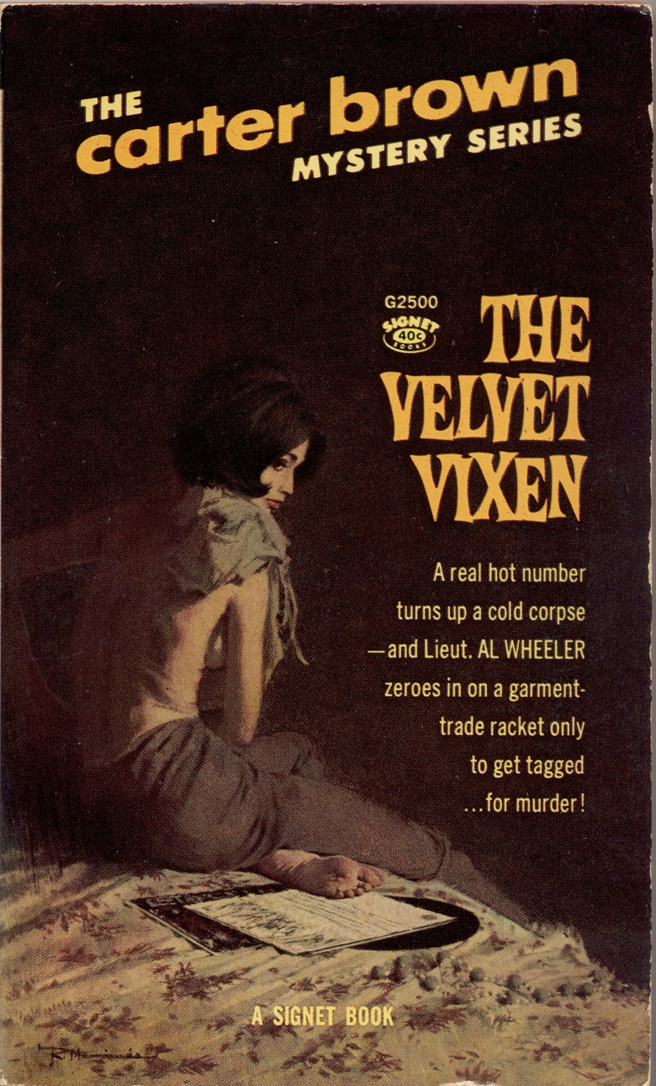The Velvet Vixen by Carter Brown, 1964.