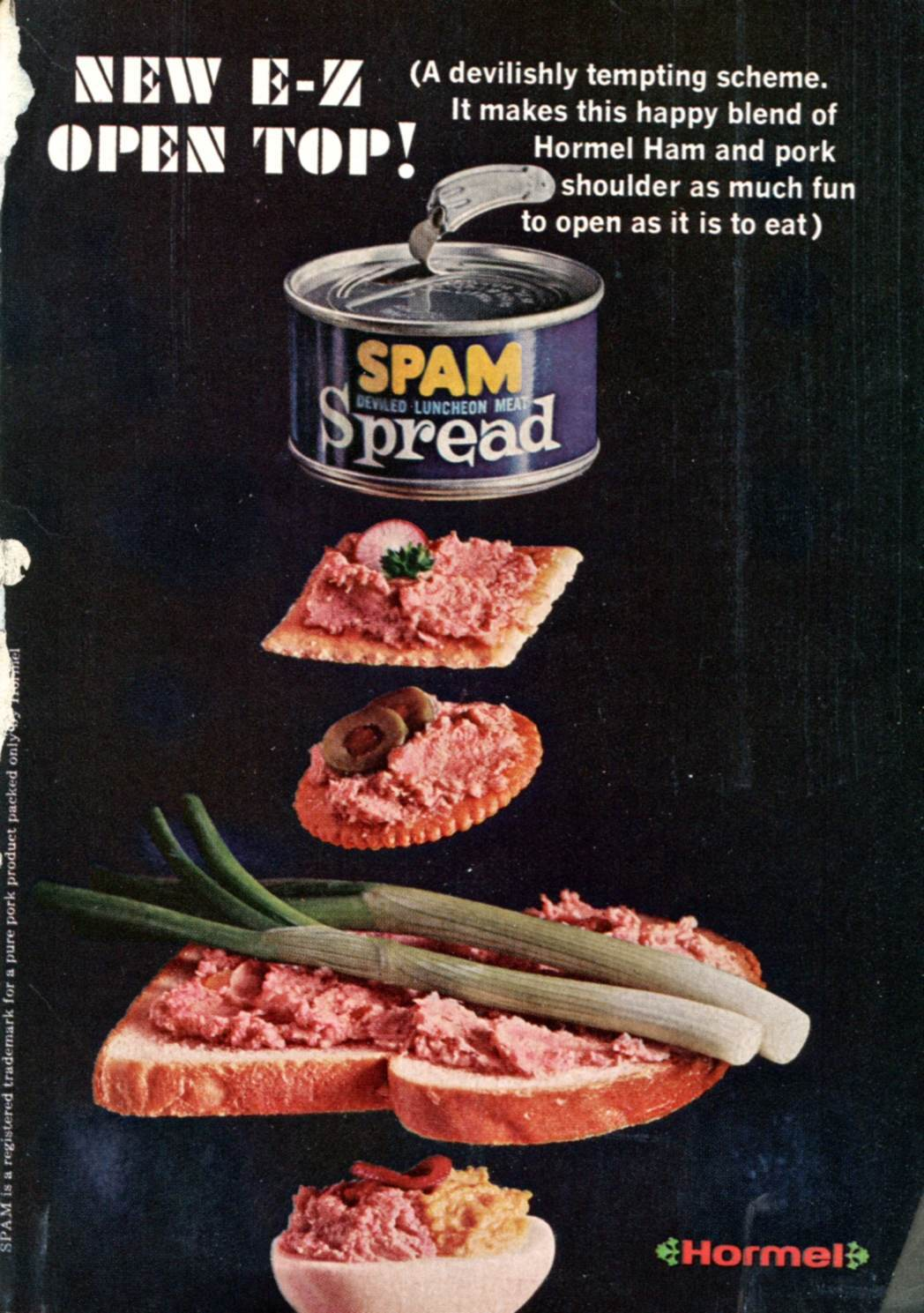 1966 Spam Spread Advertisement Readers Digest January 1966