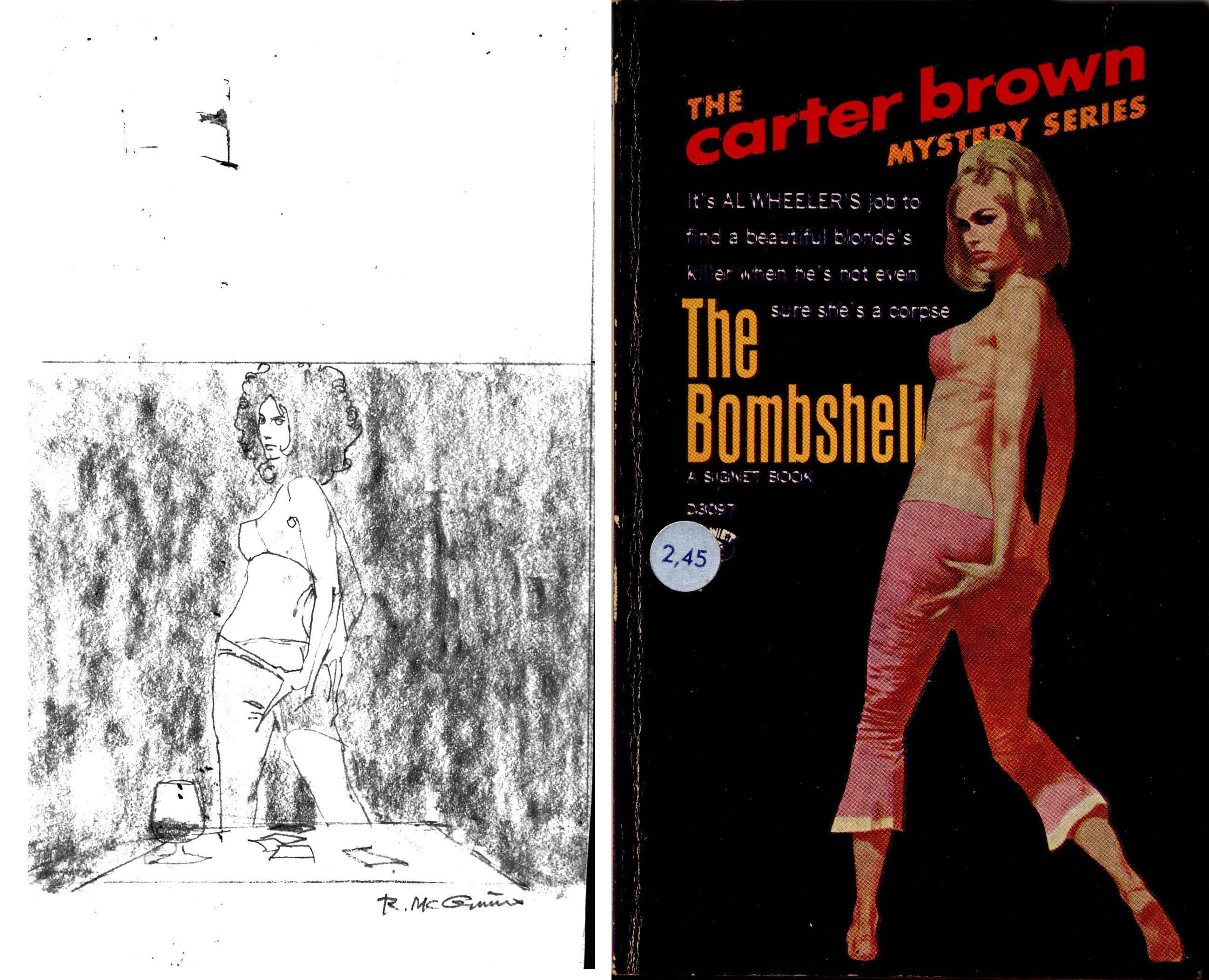 The Bombshell, 1967. Plus preparatory sketch.