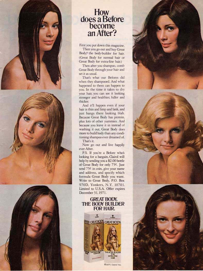 Vintage Hair Adverts: 1960s-70s Products, Styles And