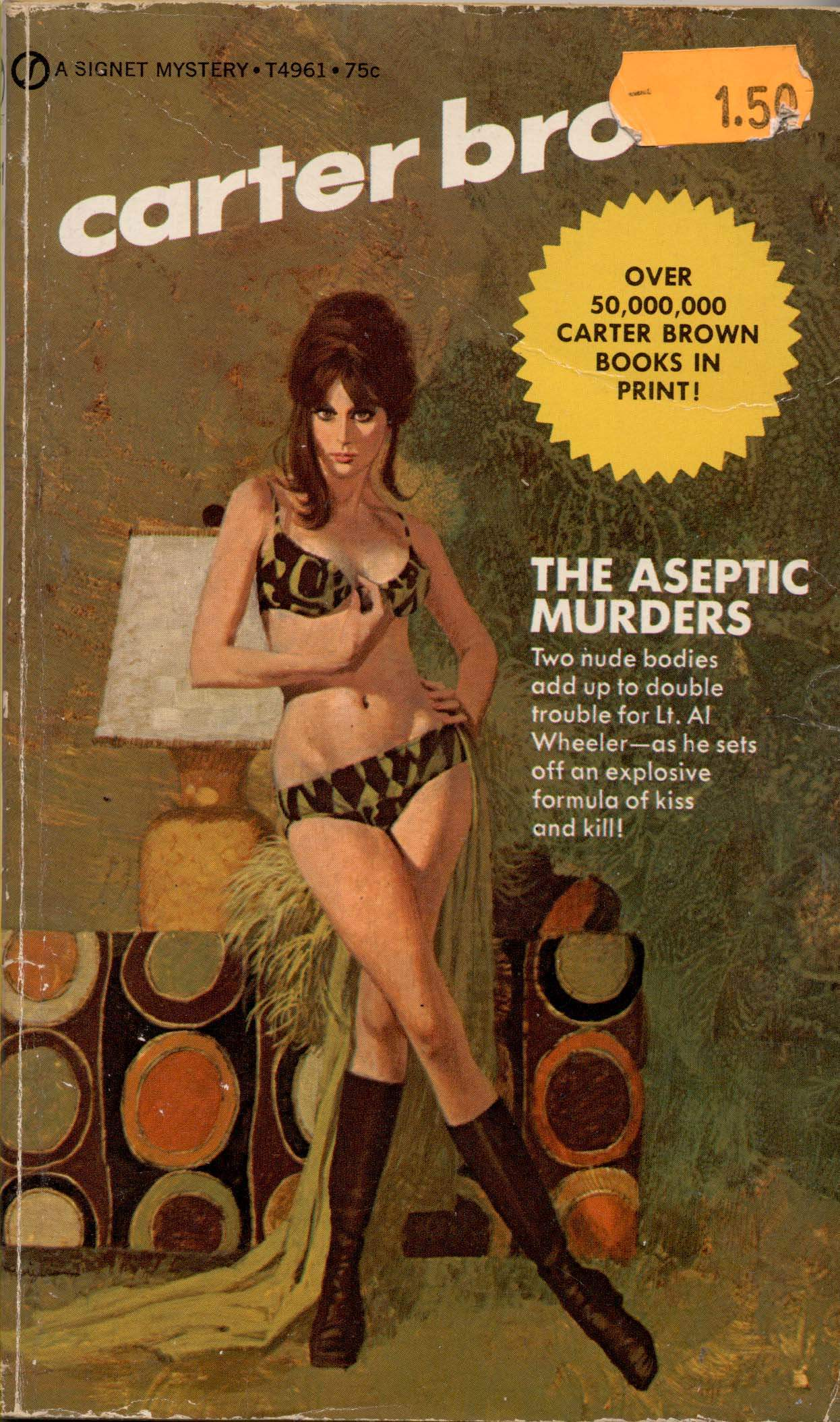 The Aseptic Murders by Carter Brown, 1972.